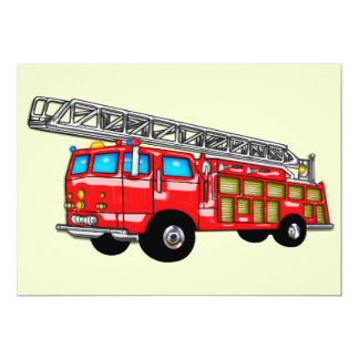 Hook and Ladder Fire Engine Card