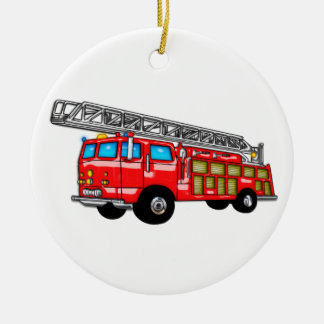 Hook and Ladder Fire Engine Christmas Ornament