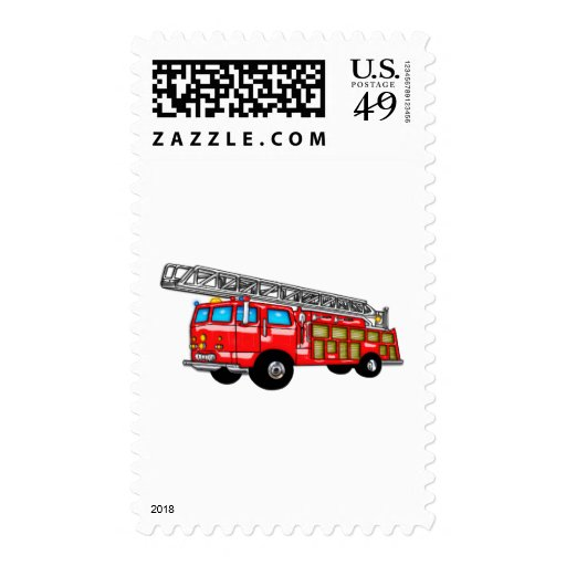 Hook and Ladder Fire Engine Postage Stamps
