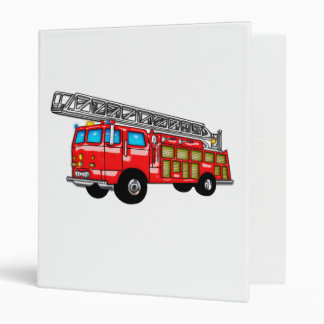 Hook and Ladder Fire Engine Vinyl Binder