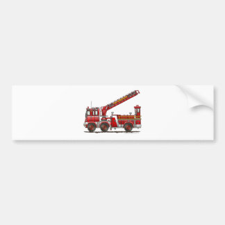 Hook and Ladder Fire Truck Bumper Sticker