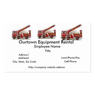 Hook and Ladder Fire Truck Business Card