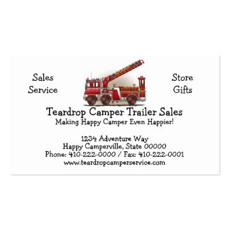Hook and Ladder Fire Truck Business Cards
