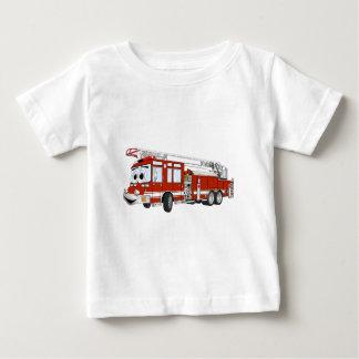 Hook and Ladder Fire Truck Cartoon Baby T-Shirt