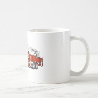 Hook and Ladder Fire Truck Cartoon Coffee Mug