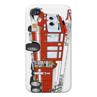 Hook and Ladder Fire Truck Cartoon iPhone 4/4S Case