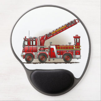 Hook and Ladder Fire Truck Gel Mouse Pad