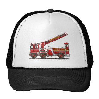 Hook and Ladder Fire Truck Mesh Hats