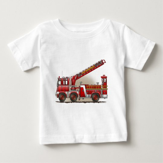 Hook and Ladder Fire Truck Infant T-Shirt