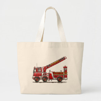 Hook and Ladder Fire Truck Large Tote Bag