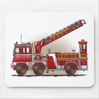 Hook and Ladder Fire Truck Mouse Pad