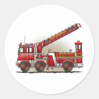 Hook and Ladder Fire Truck Sticker