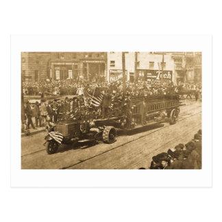 Hook and Ladder on Parade - Vinatge Postcard