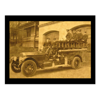 Hook and Ladder Vintage Early 1900s Postcard