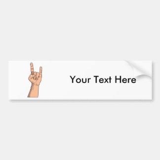 Hook em Hand Sign Gesture Bumper Stickers