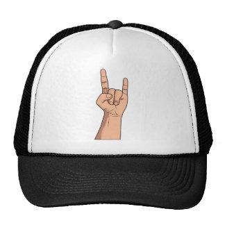 Hook 'em Hand Sign Gesture Trucker Hats