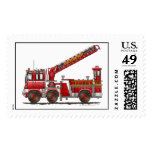 Hook & Ladder Fire Truck Stamps