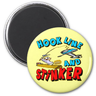 Hook Line and Stinker T-shirts Gifts 2 Inch Round Magnet