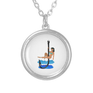 Hook, Line, Sink Her Silver Plated Necklace