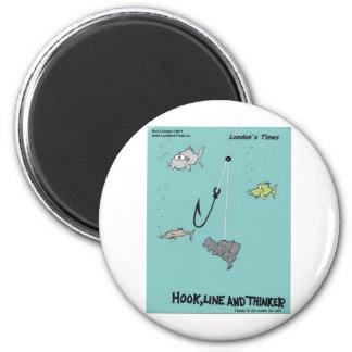 Hook Line & Thinker Funny Gifts Tees & Cards Magnet