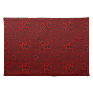 Hook & Loop 1 - Red Cloth Placemat