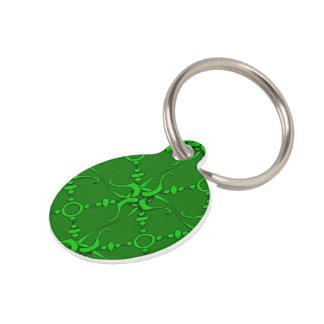 Hook & Loop - Green Pet ID Tag