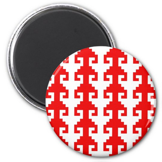 """Hook"" magnet - red/white"