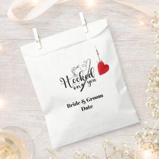 Hook on you for fishing with love Wedding  Favor Bag