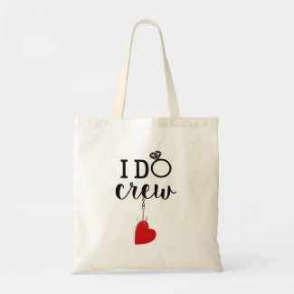 Hook with love Fishing I do crew wedding  Tote Bag