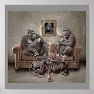 Hookah Apes Poster