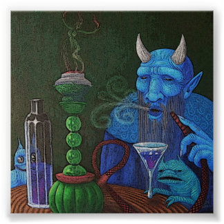 Hookah Demon Poster