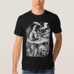 Hookah, Mushroom, Caterpillar, Alice in Wonderland Tshirt