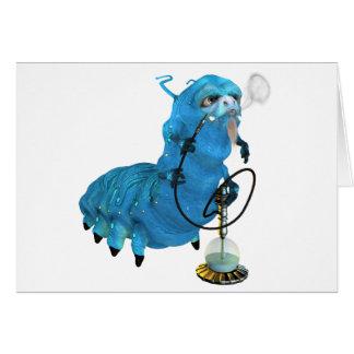 Hookah Smoking Blue Catterpillar Greeting Card