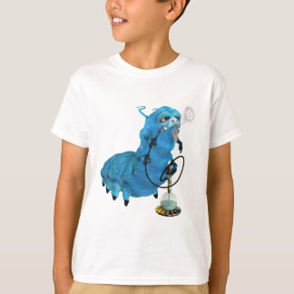 Hookah Smoking Blue Catterpillar T-Shirt