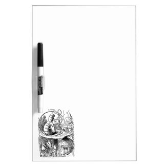 Hookah Smoking Caterpillar Alice in Wonderland Dry Erase Board