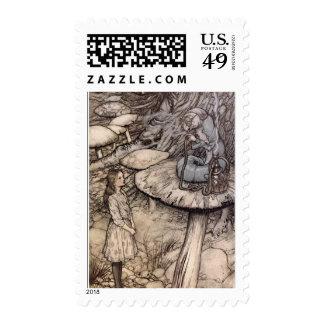 Hookah Smoking Caterpillar Alice in Wonderland Stamps
