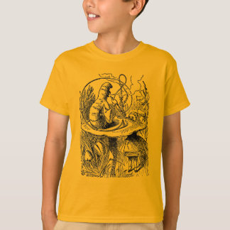 Hookah Smoking Caterpillar Alice in Wonderland T-Shirt