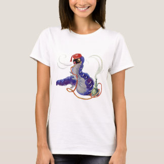Hookah Smoking Caterpillar in Alice in Wonderland T-Shirt