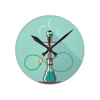 Hookah vector art round clock