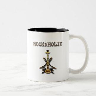 HOOKAHOLIC brown Two-Tone Coffee Mug
