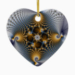Hooked And Netted - Fractal Ceramic Ornament