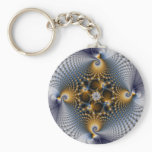 Hooked And Netted - Fractal Keychain