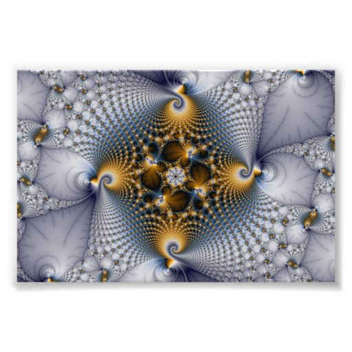 Hooked And Netted - Fractal Photo Print