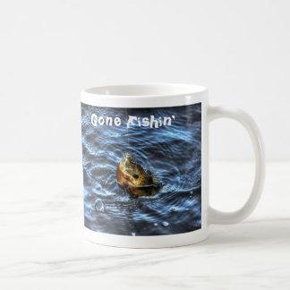 Hooked Bluegill Sun Fish Gone Fishin' Art Mugs