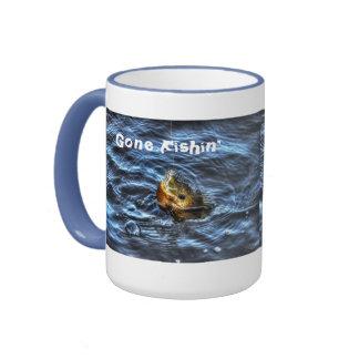 Hooked Bluegill SunFish Gone Fishin' Art Mugs