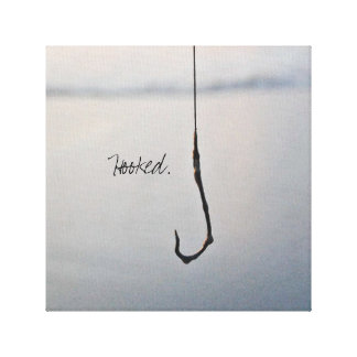 Hooked. Canvas Print
