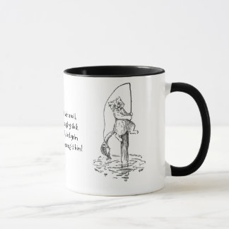Hooked Fish Catches Cat's Tail Mug