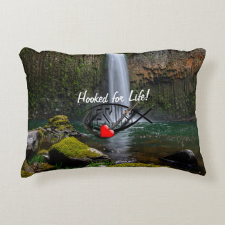 Hooked for Life! Decorative Pillow