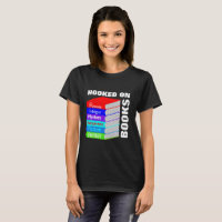 Hooked On Books Book Lovers Novelty Graphic T-Shirt
