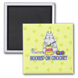 hooked on crochet 2 inch square magnet